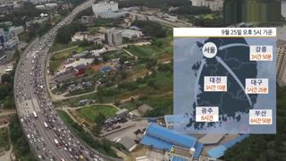 추석 귀경길 곳곳 정체…부산→서울 6시간 50분