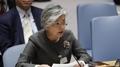 La chef de la diplomatie promet de continuer à appliquer les sanctions contre le..