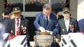 Corea del Sur sostiene una ceremonia para la repatriación de los restos de 64 ca..