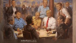 """""""트럼프 대통령이 링컨과 다이어트 콜라를?"""""""