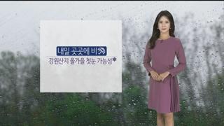 [날씨] 내일 곳곳에 비, 강원영동 80mm 이상…한낮에도 쌀쌀
