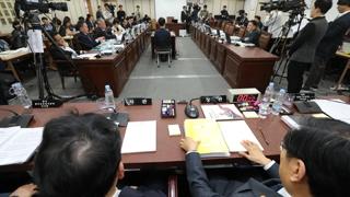 법원 국감, 강정마을 공방에 파행…여당 '퇴장'