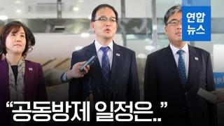 """[영상] 남북 산림협력회담 대표단 """"공동방제 일정은…"""""""