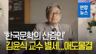 [영상] '한국문학의 산증인' 김윤식 교수 별세…애도물결