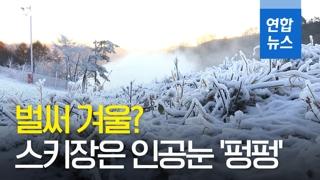 [영상] 벌써 겨울? 스키장은 인공눈 펑펑