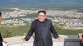 El líder norcoreano inspecciona una obra de construcción, su primera actividad r..
