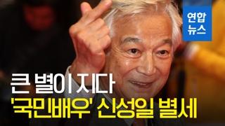 [영상] 한국 영화계 큰 별 '국민배우' 신성일 별세