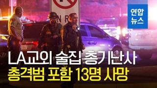 """[영상] 미국서 또 '무차별 총격'…""""연막탄 던진 뒤 30발 발사"""""""