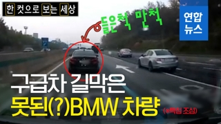 [한·보·세] 고속도로서 구급차 길 안 열어준 못된(?) BMW 차량