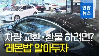[영상] 새 차 고장 반복되면 교환ㆍ환불된다…'레몬법' 뭐길래?