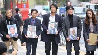 '문전박대' 당한 강제징용 변호인단…경비회사 직원이 입장전달
