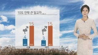 [날씨] 내일 큰 일교차 유의…일부 중서부 공기질 나쁨