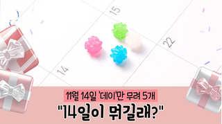 """[포토무비] 11월 14일 '데이'만 무려 5개…""""14일이 뭐길래?"""""""