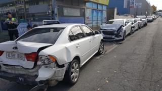 대낮 만취운전자 주차 차량 6대 파손