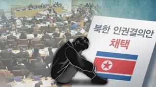 """유엔, 북한인권결의안 채택…""""가장 책임있는 자 제재"""""""