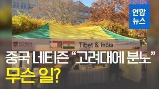 """[영상] 중국 네티즌 """"고려대에 분노와 유감""""…무슨 일?"""
