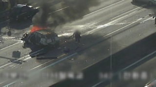 경부고속도로서 버스-승용차 등 10중 충돌