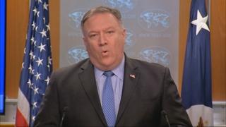 """폼페이오 """"비핵화가 남북관계에 뒤처져선 안된다…나란히 가야"""""""
