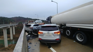 전남서 17대 추돌사고 등 25건 차량사고 신고