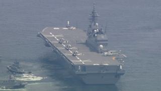 일본, 항공모함 도입 공식화…군사대국화 가속
