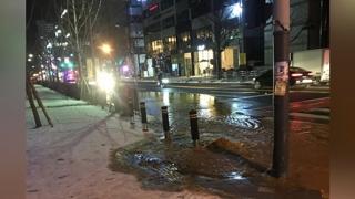 경기 안산서 상수도관 파열…도로 물바다
