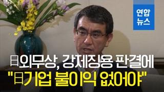 """[영상] '日외무상 """"韓측 대응 어렵다는 점 이해…日기업 불이익 없어야"""""""