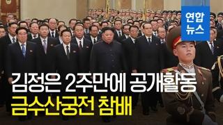 [영상] '김정일 7주기'…北 김정은, 금수산태양궁전 참배