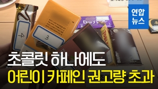[영상] 시중 초콜릿... 어린이 카페인 권고량 초과