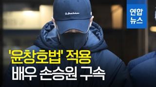 [영상] '무면허 음주뺑소니' 배우 손승원 구속…'윤창호법' 적용