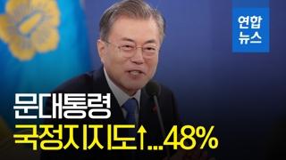 [영상] 문대통령 국정지지도 48%…긍정평가가 부정평가 다시 앞질러