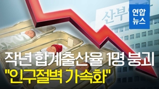 """[영상] 작년 합계출산율 1명선 붕괴…""""인구절벽 가속화"""""""