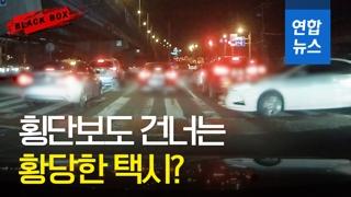 [블랙박스] 횡단보도 유유히 가로지른 황당한 택시