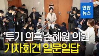 """[영상] 손혜원 """"의혹 중 하나라도 사실로 밝혀지면 의원직 사퇴"""""""