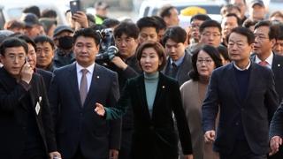 목포 찾은 한국당…손혜원 '반전 빅카드' 으름장