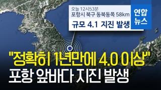 [영상] 포항 앞바다서 규모 4.1 지진…영남권 전역서 감지