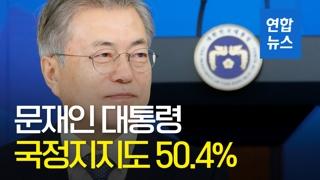 [영상] 문대통령 국정지지도 50.4%…11주 만에 50%대 회복