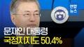 نسبة تأييد الرئيس مون ترتفع الى 50.4%
