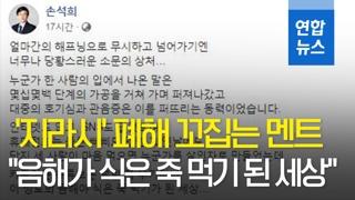 """[영상] 손석희 '지라시' 폐해 꼬집는 글 게시…""""합의나 선처 없다"""""""