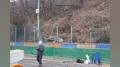 부산지하철 공사장 주변 산비탈 무너져…20여 명 대피