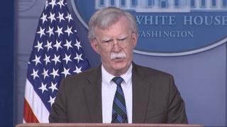 """미국 백악관 """"볼턴 방한 취소…베네수엘라 사태 집중"""""""