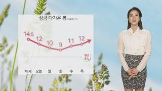 [날씨] 휴일 낮, 봄에 성큼…서쪽 초미세먼지 주의
