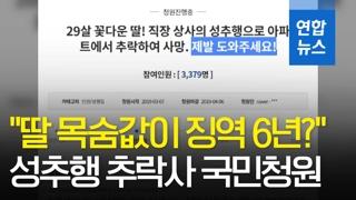 """[영상] 성추행 추락사 유족 국민청원…""""딸 목숨값이 징역 6년이라니"""""""