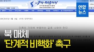 [영상] 북 매체, 연일 '단계적 비핵화' 촉구