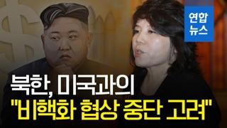 """[영상] 북한 """"미국과 비핵화 협상 중단 고려"""""""