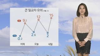 [날씨] 휴일 완연한 봄…뚜렷한 일교차에 감기 조심