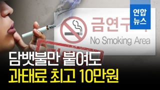 [영상] 금연구역서 담배에 불만 붙여도 과태료 최고 10만원