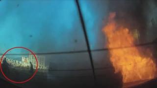 화염 휩싸인 차량서 잠든 만취 운전자 구한 시민들