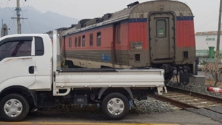 보성서 무궁화호 열차와 1t트럭 충돌…운전자 부상
