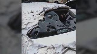 차유리 깨지고 지붕 뚫고…중국 윈난성 '최악의 우박'