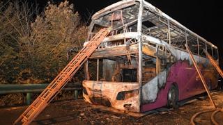 중국 관광버스 화재로 26명 사망